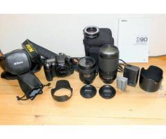 Nikon D90 + objectifs polyvalents + divers materiels
