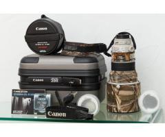 Canon 200 f2 avec accessoires