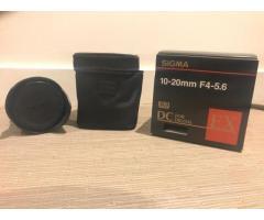 Objectif SIGMA 10-20 F 4-5.6 pour Nikon