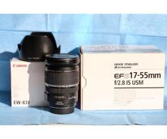 Vends objectif Canon EFS 17-55 f2,8 IS USM