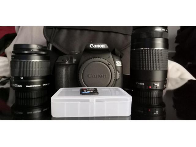 Pack canon 2000D + 18-55 + 75-300 = carte SD = sacoche