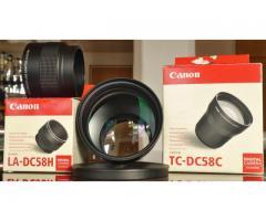 doubleur de focale CANON TC-DC58C & bague d'adaptation LA-DC58H